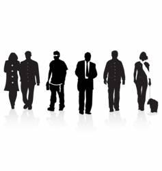 group walking vector image