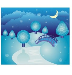 Fairy-tale winter landscape vector