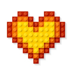 Heart made plastic blocks vector