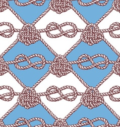Engraved pattern with ropes vector