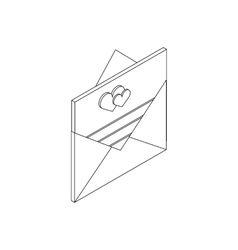 Envelope with invitation card icon vector
