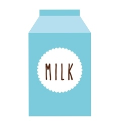 Box milk isolated icon design vector