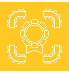 Award medal sport or business background in line vector image vector image