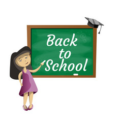 back to school little girl vector image
