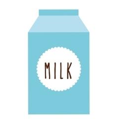 box milk isolated icon design vector image
