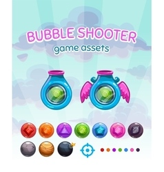 Bubble shooter game assets vector