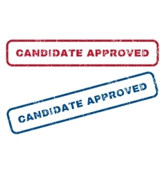 Candidate approved rubber stamps vector