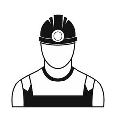 Coal miner black simple icon vector image