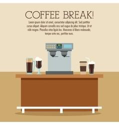 Coffee machine break shop icon graphic vector