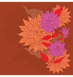 Colorful Flower Ornament4 vector image