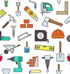 Construction colorful pattern icons vector
