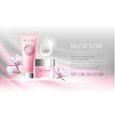 Cosmetics advertisement vector