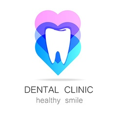 Dental clinic healthy smile logo template vector