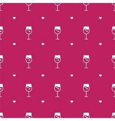 Flat minimalistic wine seamless pattern vector