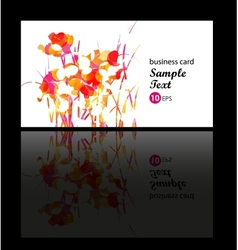 Floral decorative multicolor card vector