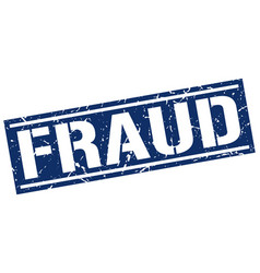 Fraud square grunge stamp vector