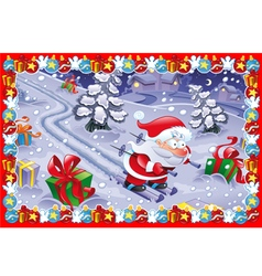 Funny Christmas card vector image vector image