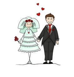 Groom and bride vector