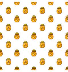 Honey pot pattern seamless vector