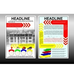 Infographic brochure template with building under vector image