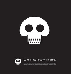 isolated pirate icon scary element can be vector image vector image
