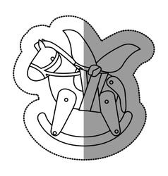 Isolated toy horse damaged design vector image