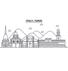 italy turin architecture line skyline vector image