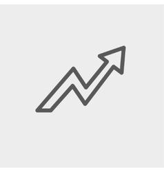 Lightning arrow upward thin line icon vector image