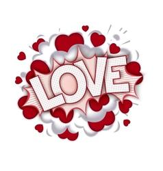 Love speech bubble vector