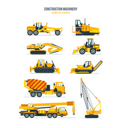Machines trucks vehicles for transportation vector