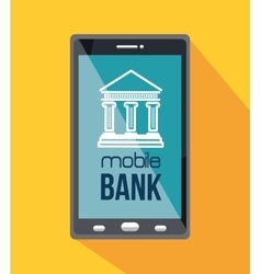 Mobile banking design vector