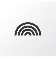Rainbow icon symbol premium quality isolated vector