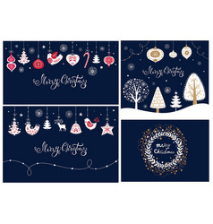 Set of christmas banners and cards vector