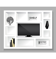 Shelf template vector