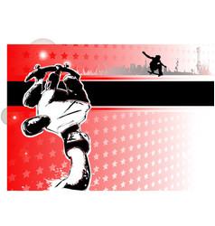 skateboarding poster vector image