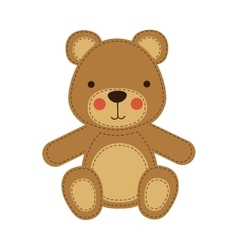 teddy bear icon image vector image vector image