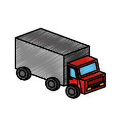 truck vehicle isolated icon vector image