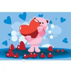 valentine bear vector image