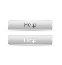 white button help active and normal vector image vector image