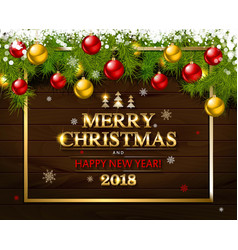 with christmas and new year vector image