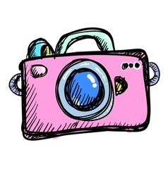 Doodle digital camera vector