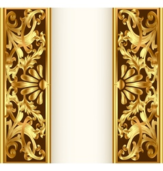 Frame background with gold vegetable pattern vector