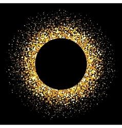 Gold flash confetti of heart Glitter background vector image