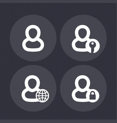 Login icons user account sign in pictograms vector
