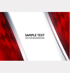 Abstract square red geometrical background with vector