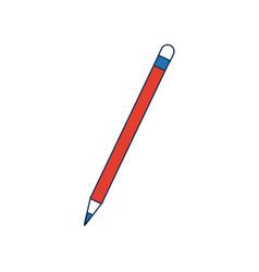 School wooden pencil writing idea concept vector