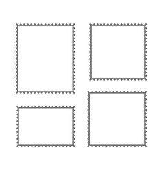 postage stamp blank mockup vector image