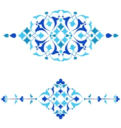 Ottoman motifs blue design series of fifty fourai vector