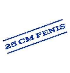 25 cm penis watermark stamp vector