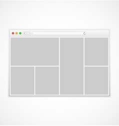 Web browser window on white background vector